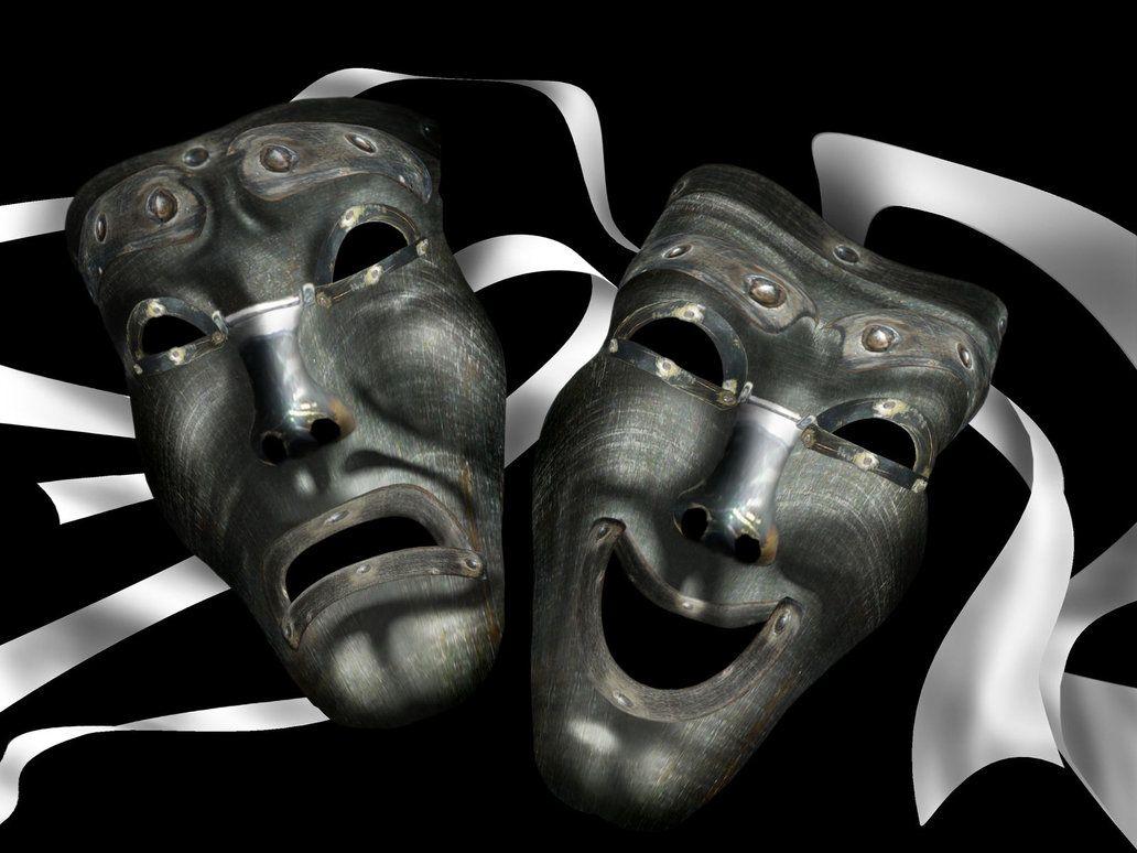 картинки маски комедия таких историях